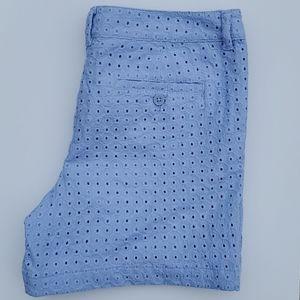 2/$20 LOFT BLUE EYELET SHORTS